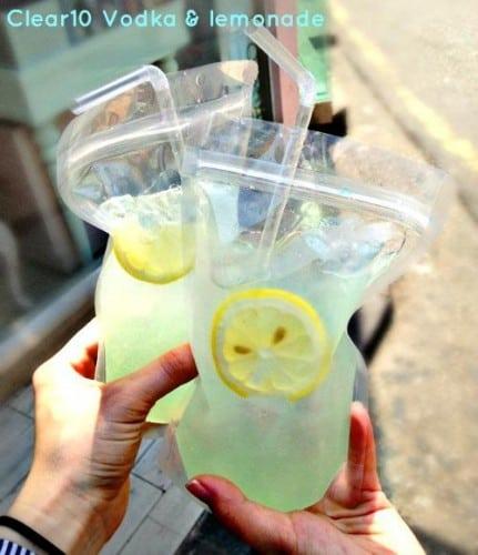 clear 10 vodka lemonade