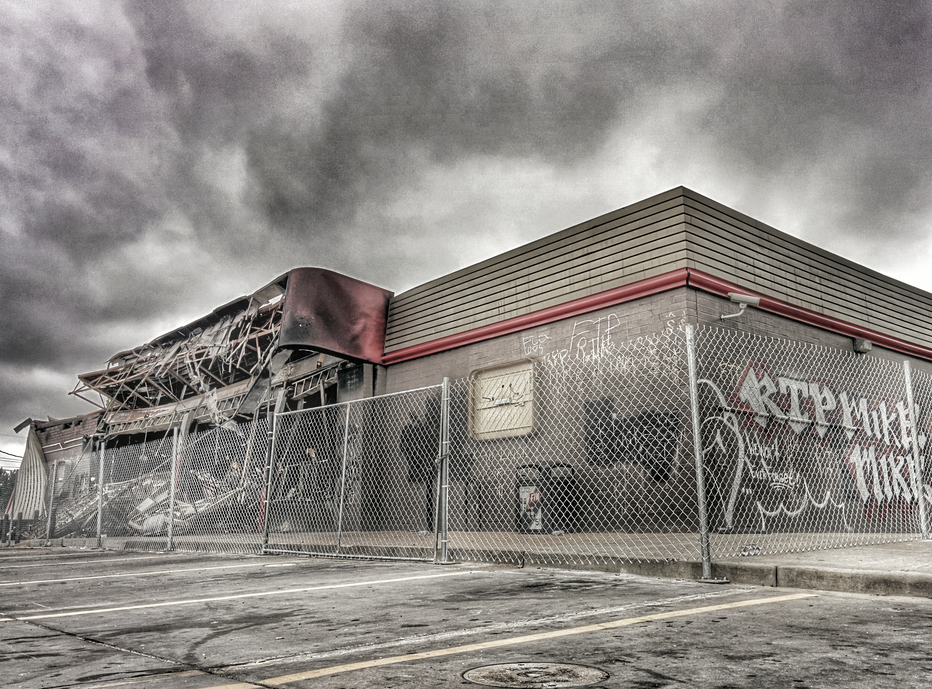 Destroyed QT in Ferguson  Image by Omar O'Hara