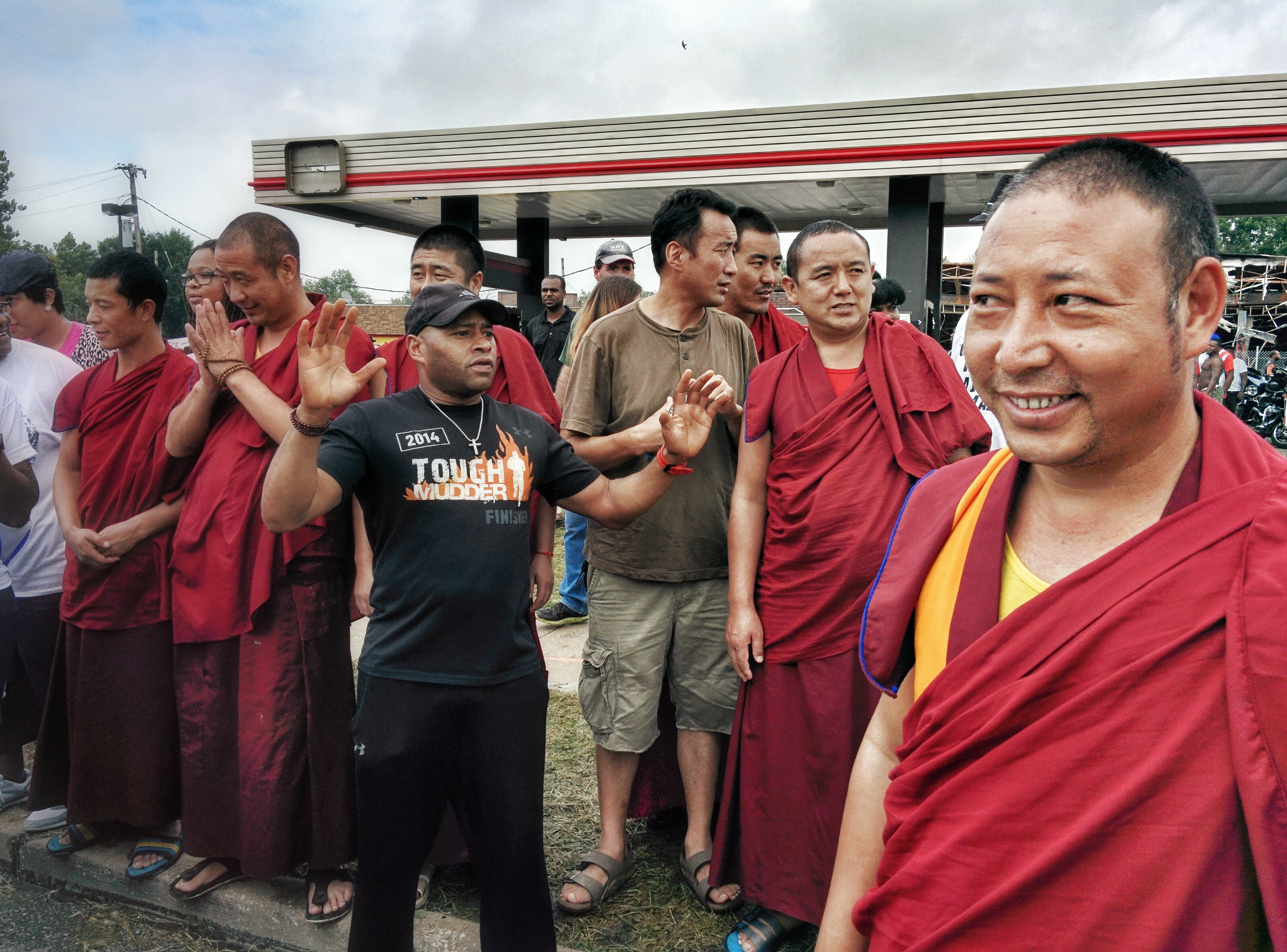 Tibetan Monks at Ferguson peaceful protest