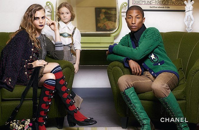 Chanel Ad Campaign Pharrell and Cara