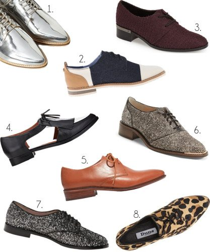 Oxfords, Fall 2015 Shoe Trends 2