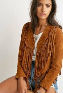 |Fringed Genuine Suede Jacket| Forever21.com