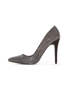 |Silver Crystal Studded Pump| tamarcollection.com